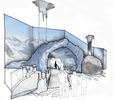 Birmingham Ice Adventure Entrance Concept