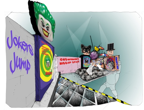Lego DIscovery Centres- Superhero Concept sketch