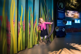 Molly Ann Clarke at Secrets of the Reef launch at SEALIFE Brighton. photo ©Julia Claxton