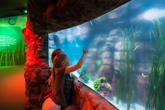 Ivy and Tallulah Cunliffe at Secrets of the Reef launch at SEALIFE Brighton. photo ©Julia Claxton