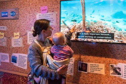 Secrets of the Reef launch at SEALIFE Brighton. photo ©Julia Claxton